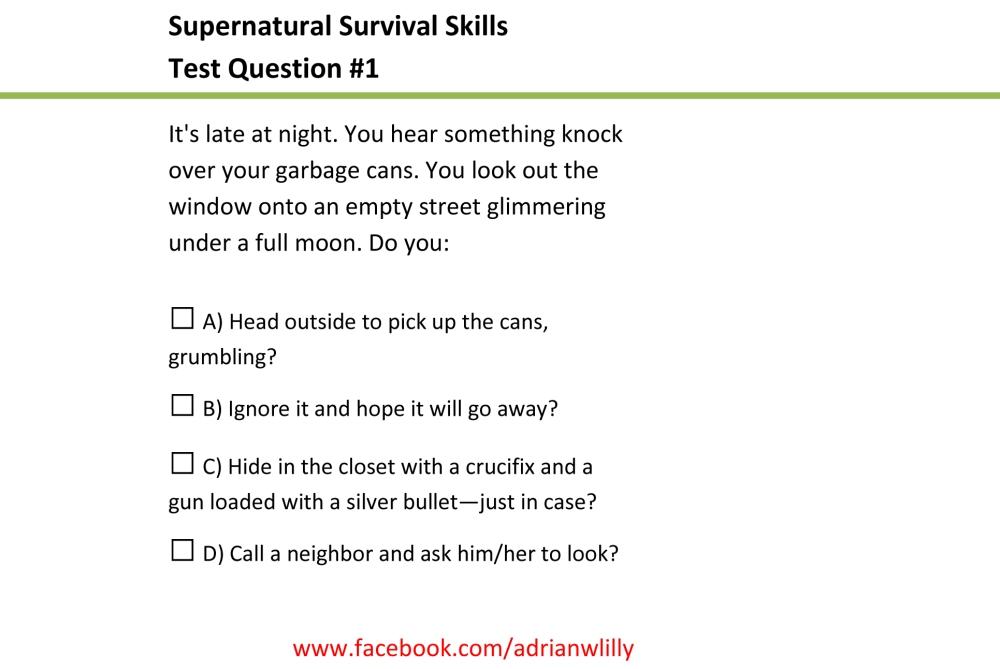 Microsoft Word - Supernatural Survival Skills