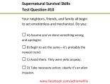 Supernatural Survival Skills10